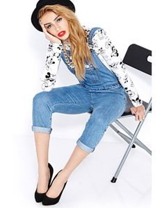 Forever 21 Favorite Mickey Denim Overalls #refinery29. M