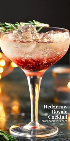 This slightly sweet, slightly sharp Prosecco royale mixed with sloe gin is the perfect festive cocktail to kick off your party. #Prosecco #Proseccococktails #Proseccodrinks #Proseccotime #Drinks #Cocktails #CocktailHour #CocktailOfTheDay #Craftcocktails #Proseccolovers #Winelovers #Masterofmixes #Barista #Champagnelover #DeliciousDrinks #Wine #Wineoclock #Mixology