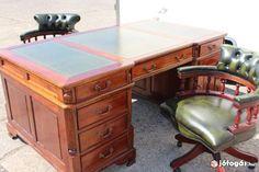 Chesterfield komplett íróasztal, dolgozószoba