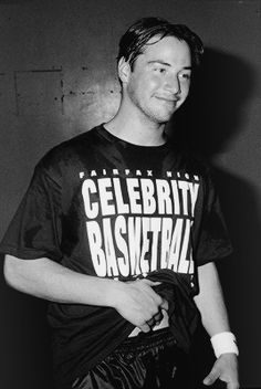 keanu in Celebrity Basketball Game 1990