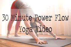 This is a 30 minute instructional power yoga flow best suited for those with a consistent yoga practice. (Not ideal for beginners.) I can't do the headstands yet but everything else was awesome! #yoga