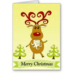 Rudolph Christmas Greetings Card