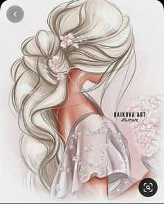 Fashion Illustration Dresses, Fashion Design Sketches, Illustration Sketches, Art Sketches, Illustrations, Mode Poster, Cute Girl Drawing, Girly Drawings, Fashion Wall Art