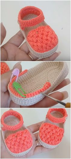 Crochet Baby Girl Sandals From 0 To 3 MonthsYou can find Crochet baby sandals and more on our website.Crochet Baby Girl Sandals From 0 To 3 Months Baby Girl Sandals, Crochet Baby Sandals, Booties Crochet, Crochet Baby Clothes, Crochet Shoes, Crochet Slippers, Knit Crochet, Baby Booties, Baby Girl Crochet