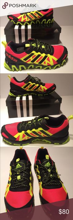 Adidas trial running/hiking Power through your run, hike, or walk, while wearing adidas Trail Running. These shoes are designed with textile and synthetic uppers to deliver comfort and durability as you log miles. New in box adidas Shoes Sneakers