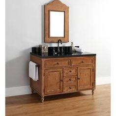 carved wood bathroom vanity