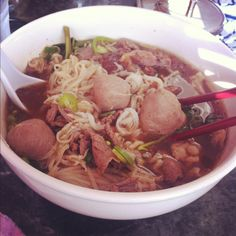 Hangover cure... Thai boat noodles From LB Thai Restaurant.