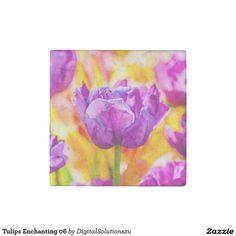 Tulips Enchanting 06 Stone Magnet
