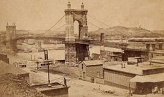 Roebling Bridge (formerly Suspension Bridge) Cincinnati