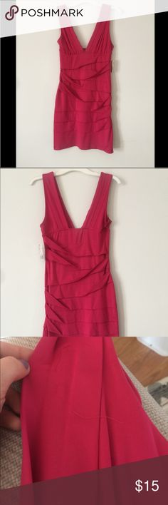 """NWT forever 21 short bandage mini dress Forever 21 super stretchy hot pink mini dress, nwt! Has small thread by bust but is covered by fabric so is unseen when worn, purchased like this. perfect club dress. Measure approx 35"""" from shoulder to hem. Forever 21 Dresses Mini"""