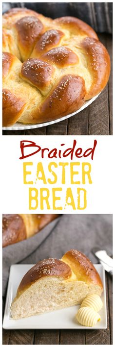 Braided Easter Bread Recipe | Tender, sweet, eggy bread that's perfect for any occasion! @lizzydo