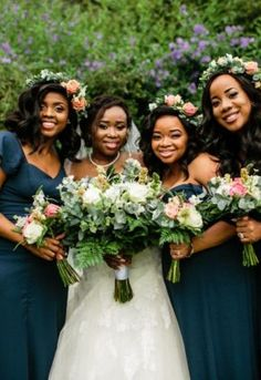 A stunning combination of black, green & gold – with pop of blush, worked so well . April Wedding, Bridesmaid Dresses, Wedding Dresses, Flower Decorations, Green And Gold, Special Day, Nostalgia, Blush, Seasons