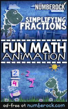 This Simplifying Fractions to Simplest Form Video comes with a game, worksheet, and anchor chart to hang in your classroom. For grade, grade, year 4 Simplifying Fractions, Math Fractions, Maths, Fun Math, Math Activities, Fourth Grade Math, Third Grade, Simplest Form Fractions, Math Songs