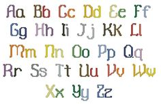Alphabet - cross stitch alphabet chart pattern ... casual upper and lower case