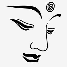 Buddha Drawing, Buddha Painting, Face Stencils, Buddha Face, Face Icon, Bird Silhouette, Buddhist Art, Art Drawings, Storm Wallpaper
