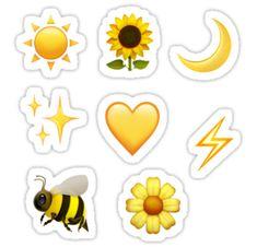Pegatinas «paquete de pegatinas amarillas emoji» de emileeannew   Redbubble