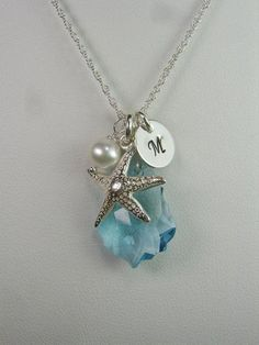 Starfish pendant bridal necklace. Craft ideas from LC.Pandahall.com  #Pandahall