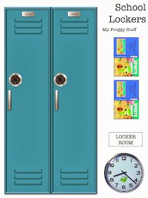 My Froggy Stuff: How to Make a Doll Locker Room with Free Printables