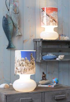 Schlichte Ikea-Lampen, beklebt mit Foto-Prints, Ikea Hack, Ikea Lykta, Lampe, produziert für Neues Zuhause
