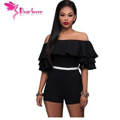 Shop Now: Dear-Lover Sexy off shoulder 2017 Summer Style Elegant Jumpsuit Black Ruffle Party Romper short playsuits Women overalls LC64252 is available in my store ✨ http://treasurechestfashions.com/products/dear-lover-sexy-off-shoulder-2017-summer-style-elegant-jumpsuit-black-ruffle-party-romper-short-playsuits-women-overalls-lc64252?utm_campaign=crowdfire&utm_content=crowdfire&utm_medium=social&utm_source=pinterest