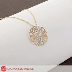 Silver Designer Monogram Necklace with stones Monogram Necklace, Name Necklace, Gold Necklace, Monogram Online, Stones, Bracelets, Silver, Stuff To Buy, Accessories