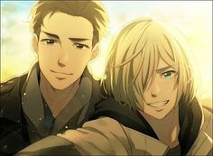 If there's anyone who doesn't want to ship this because Otabek is 18 and Yurio is 15: FIGHT ME (ง'̀-'́)ง A three year age gap really isn't a big deal. I have a 16 y/o friend who dates someone who's 20 and they are the cutest couple ever! Besides, the age gap between Viktor and Yuuri is bigger. ● Credit to Sasakura34 on twitter ● Tags: #yurionice #yoi #victuri #vikturi #victuuri #viktornikiforov #victornikiforov #yuurikatsuki #yurikatsuki #yurioplisetsky #yuriplisetsky #yaoi #phichitchula...