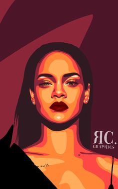 pop art Vexel Art // Rihanna by ReaCacayuran on DeviantArt Pop Art Drawing, Art Drawings, Drawing Faces, Portrait Illustration, Art And Illustration, Art Illustrations, Graphic Design Illustration, Draw Character, Portraits Pop Art