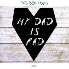 My Dad is Rad SVG  Dad SVG  Gift from Kids  by KellyLollarDesigns