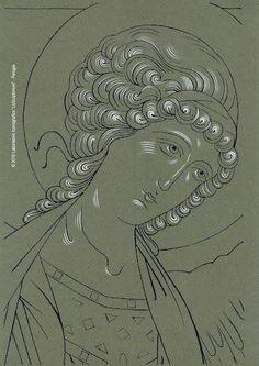 Byzantine Icons, Byzantine Art, Religious Icons, Religious Art, Writing Icon, Crafty Angels, Face Icon, Orthodox Icons, Christian Art