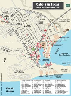 Cabo San Lucas Map July 2013 Chrissys Bachelorette Party with