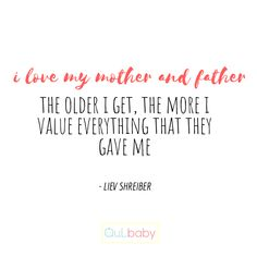 I love my mother and father. The older I get, the more I value everything that they gave me. I Love My Mother, Mother And Father, My Love, The Older I Get, My Values, Everything, Give It To Me, Old Things, Babies