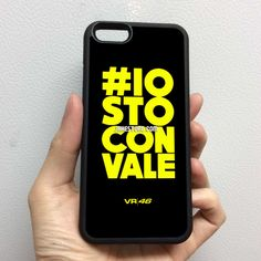 Rossi Valentino 46 Iostoconvale iPhone Rubber Case 4 4s 5 5s 5c 6 6s Plus Softcase Hybrid