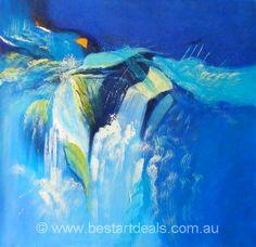 Blue Abstract . http://bestartdeals.com.au