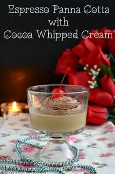 Espresso Panna Cotta with Cocoa whipped cream