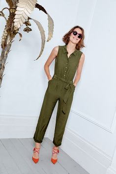 The Rebecca Jumpsuit is the easy office-to-cocktail jumpsuit. Shirt collar detailing and neat tailoring look smart while the cinched tie waist…