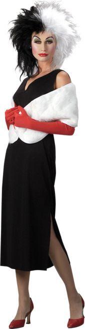 Adult Classic Cruella De Vil Costume - 101 Dalmatians - Disney Costumes - Womens Costumes - Halloween Costumes - Categories - Party City