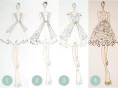 short dress sketches