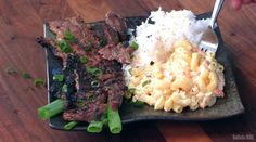 """Maui ribs are inspired by Korean BBQ and served up as a """"Hawaiian Plate Lunch."""" Maui Ribs Recipe, Hawaiian Plate Lunch, Korean Bbq, Beef Ribs, Rib Recipes, Barbecue Recipes, Smoking Meat, Grilling, Cooking"""