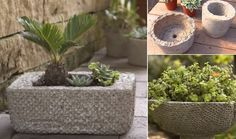 How to Make Affordable Outdoor Planters Using Hypertufa
