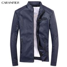 CARANFIER 2017 New Men Leather Jackets High Quality Motorcycles British Businessmen Casual Fashion Military Tactical Jacket Faux Jacket, Men's Leather Jacket, Leather Jackets, Biker Leather, Business Casual Men, Men Casual, Revival Clothing, Tactical Jacket, Mens Winter Coat