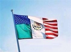 Mexican American flag