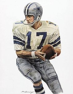 Don Meredith of the Dallas Cowboys by Merv Corning | #Dallas #Cowboys #DallasCowboys #NFL #NFC #FightToTheFinish #AmericasTeam #HallOfFame