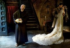 Romeo and Juliet by Annie Leibovitz. Actor John Lithgow, Coco Rocha and dancer Roberto Bolle.