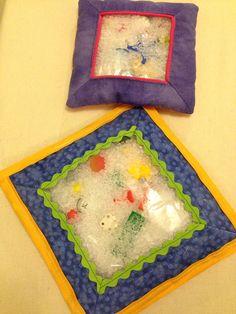 Sensory pillows - find the hidden toys.