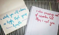 First set of brush pens. #terribleattempts #practice #calligraphy #typeface #typography #fontflaterring #fonts #fonting #writethetype #fontstudio #brushing #brushpen #camlin #lettering #handwriting #humble #selfesteem #beingbetter #miracles #love #pen #newpossession