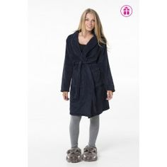 Navy Fuzzy Robe Fuzzy Robe, Peignoir, Navy, Classic, Fashion, Sailor, Hale Navy, Derby, Moda