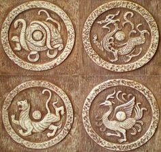 四神瓦當欣賞:青龍、白虎、朱雀、玄武 - 每日頭條