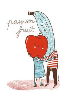 Passion Fruit #illustration by Giulia Sagramola