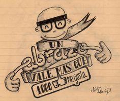 Un abrazo vale más que 1000 me gusta - www.dirtyharry.es