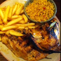 This is what a free half chicken looks like, Nando's stamp collectors... Delicious.